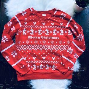DISNEY Mickey Ugly Christmas Sweater Sweatshirt M